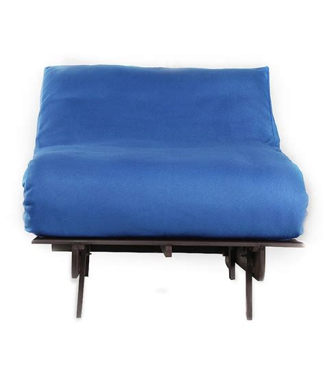 single futon sofa cum bed  blue mattress buy single