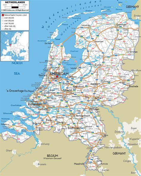 map  netherlands  cities