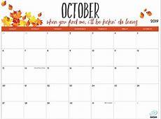 2019 Printable Calendar for Moms iMom