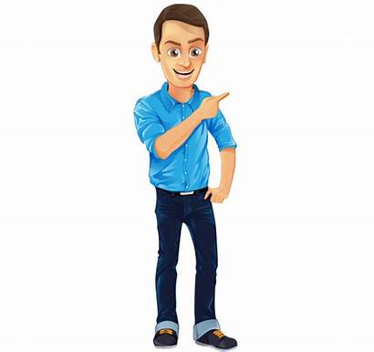 Character Male Vector Shirt Jeans Characters Clipart