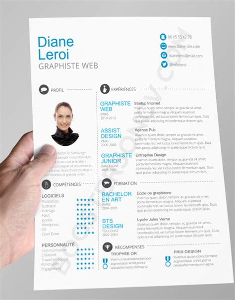 Exemple Mise En Page Cv by T 233 L 233 Charger Modele Cv Mise En Page Originale Cv Mise