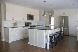 kitchen island overhang home improvement adding column supports to counter overhang plus finished kitchen photos