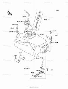 Kawasaki Atv 1999 Oem Parts Diagram For Fuel Tank
