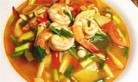 cuisine thailandaise recettes la recette thailandaise du tom yam kung allo thailande