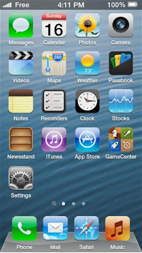 iphone themes for android iphone 5 screen 1 5 2 theme for android android themes