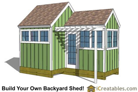 6x8 Garden Shed Plans by Shed Plans With Porch Build Your Own Shed With A Porch