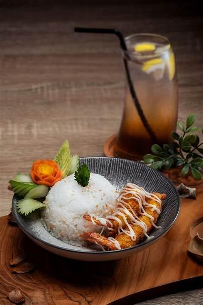 Japanese Tempura Rice Tasty Bowl Cuisine Asian