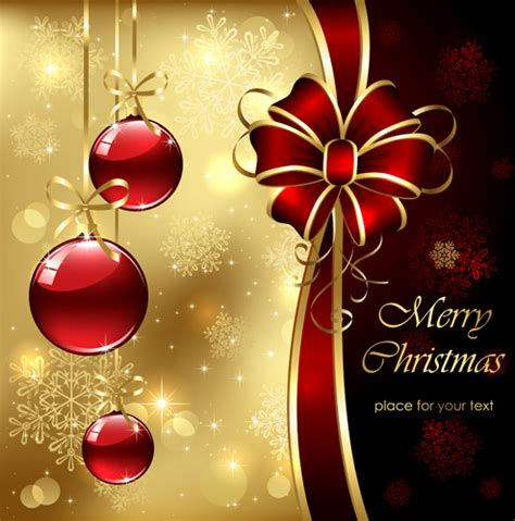 ornate golden christmas cards vector graphics  vector