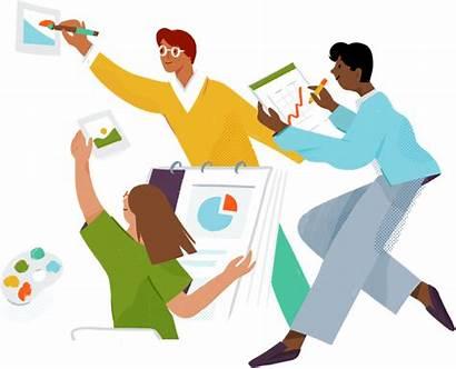 Slack Team Illustration Together Teams Teamwork Business