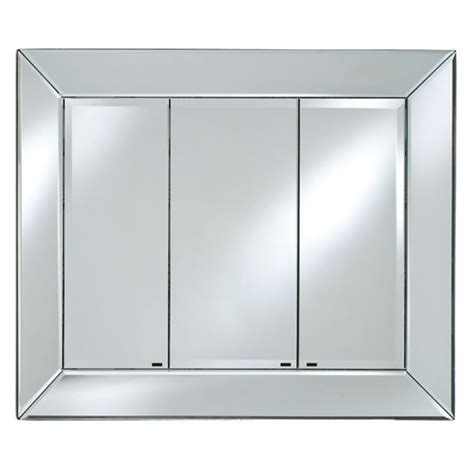 the radiance venetian mirrored medcine cabinet with triple