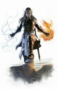 Female Elf Wizard - Pathfinder PFRPG DND D&D d20 fantasy ...