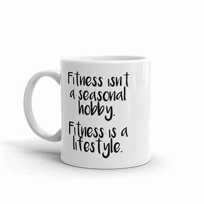 Fitness Hobby Isn Lifestyle Mugs Printed Positive