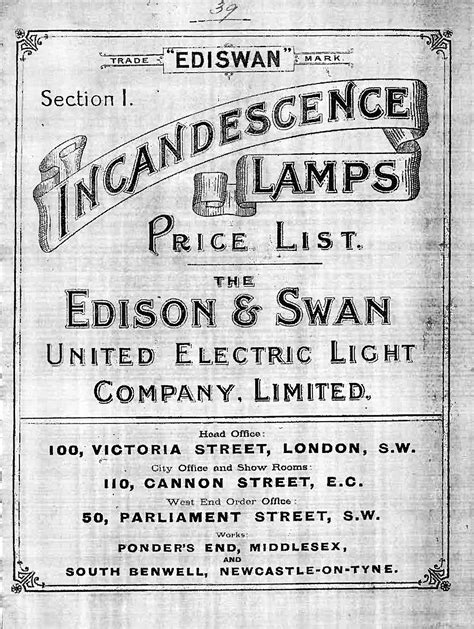 Edison Electric Light Company by Edison And Swan Electric Light Company