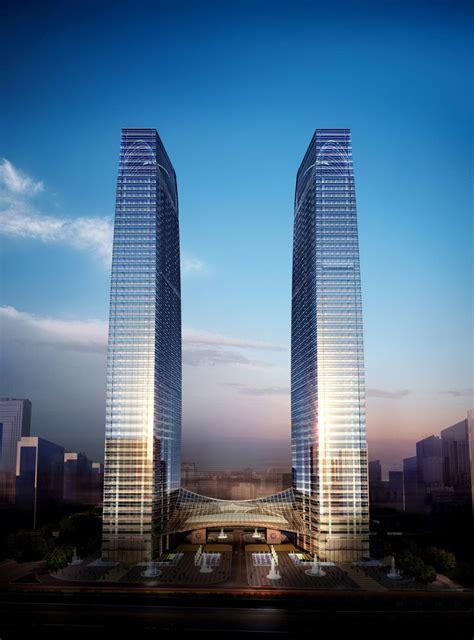 tall vertical rectangle cnooc headquarters xm