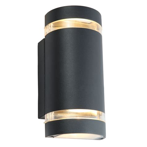 blooma lua charcoal grey mains powered led wall light
