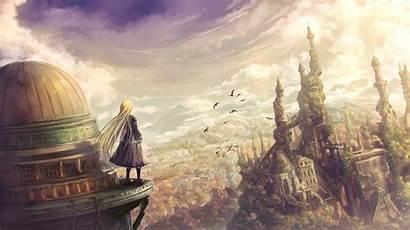 Anime Fantasy Wallpapers Landscape Artwork Clouds Artist