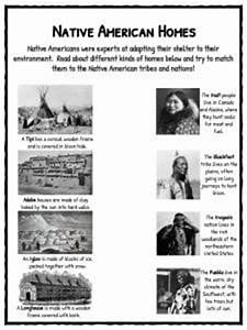 Collection of Native American Homes Worksheet - Bluegreenish