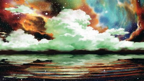 Anime Nature Wallpaper - anime nature clouds water wallpapers hd desktop and