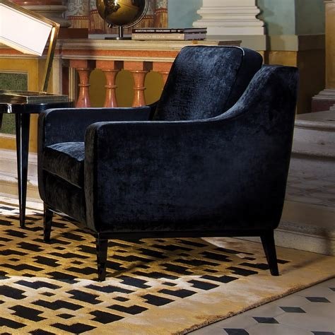 Designer Armchair by Luxury High End Modern Black Velvet Armchair Juliettes