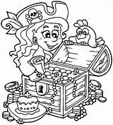 Pirate Coloring Treasure Pages Chest Pirates Sheets Ship Drawing Little Colouring Printable Summer Line Pittsburgh Kidsplaycolor Lionfish Getdrawings Books Activity sketch template