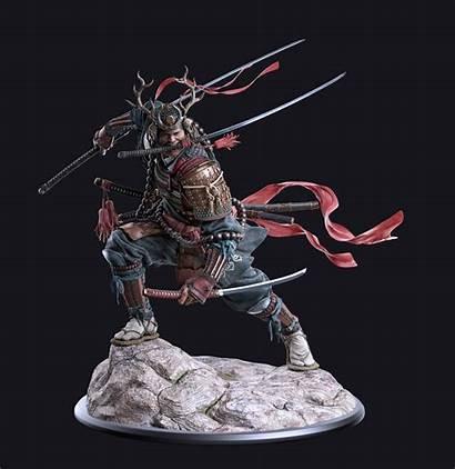 Zbrush Kagemusha Zbrushcentral Samurai Character Takeda Shingen