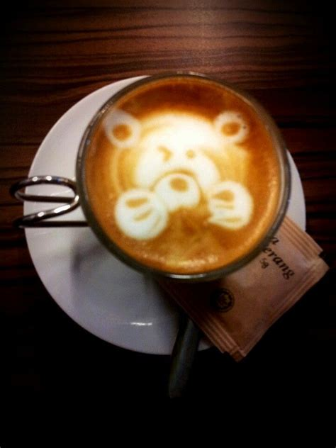 Do you have to seal it a certain way ? Coffee art. Teddy bear. | Food