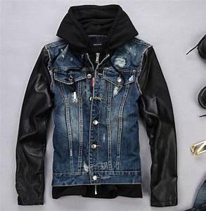 Leather Jean Jacket - Coat Nj