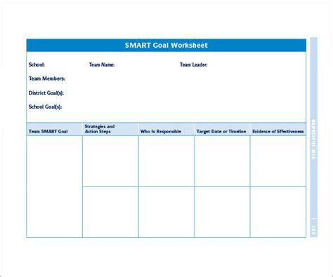 smart goal template word 16 sle smart goals templates to sle templates