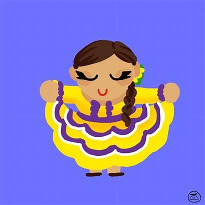 Giphy Honduras Dancing Culture Honduran Gifs Flower