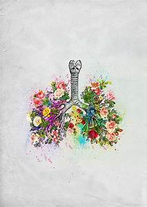 Flowers Lungs Skeleton Watercolor Available As Prints On Society6 And Redbubble