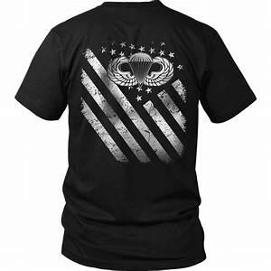 Airborne T Shirt Airborne Flag T Shirt Freedomdesign