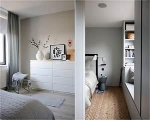 Armoire Murale Chambre : chambre grise d co et am nagement splendides en 82 id es ~ Melissatoandfro.com Idées de Décoration