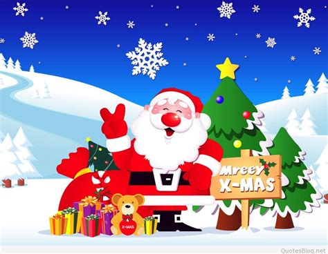 Funny Merry Christmas Cartoons Sayings & Quotes 2015