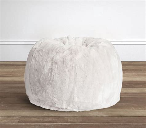 wars beanbag slipcover pottery gray faux fur anywhere beanbag slipcover only pottery