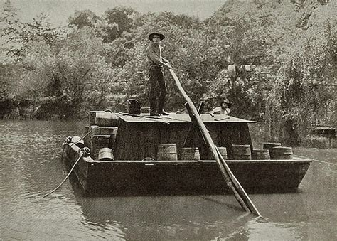 Pioneer Work Boats by Flat Boat Pictures In 1800 S Flatboat On The Mississippi