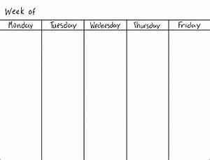 weekly calendar blank weekly calendar template With 5 day calendar template excel
