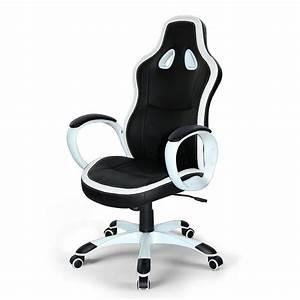 Chaise De Bureau Confortable : chaise de bureau fauteuil si ge sport racing gamer confortable ergonomique cuir ~ Teatrodelosmanantiales.com Idées de Décoration