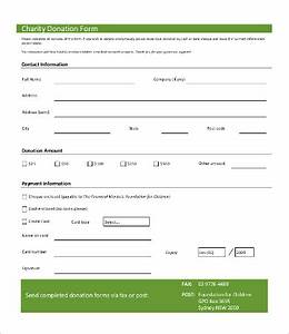 donation form template 8free word pdf documents With charity pledge form template