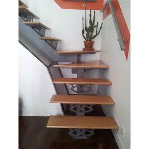 Escalier Metalique Bois by Escalier M 233 Tallique Quart Tournant Avec Marches En Bois
