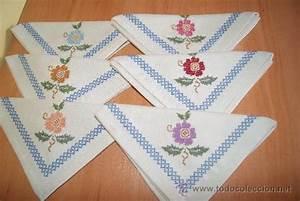 Servilletas bordadas en punto de cruz para boda Imagui bordados de toallas punto cruz