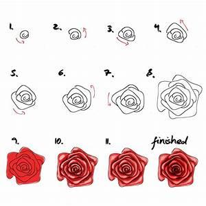 Schöne Muster Zum Selber Malen : rose malen f r anf nger einfaches tutorial malen lernen zeichnen und malen rose malen ~ Orissabook.com Haus und Dekorationen