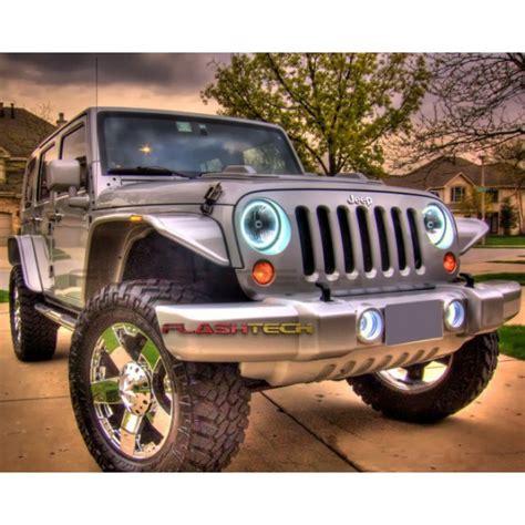 halo theme jeep led headlights jeep wrangler autos post
