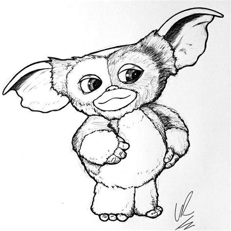Gizmo Kleurplaat by Gremlins Gizmo Colouring Pages Sketch Coloring Page