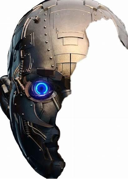 Robot Face Half Terminator Picsart Mask Transparent