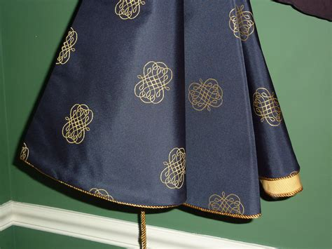 christmas tree skirt in a classy navy blue by cbsinteriors