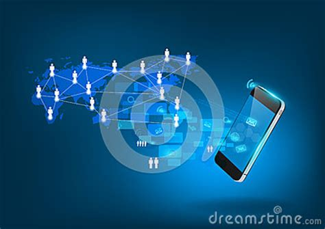 vector mobile phone technology business concept royalty