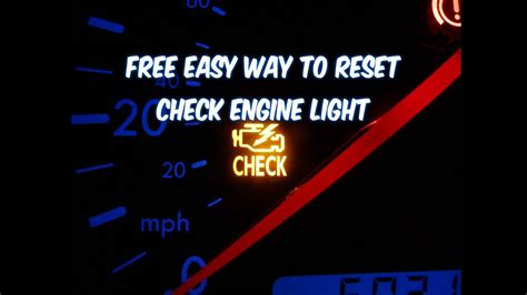 Reset Check Engine Light Dodge Ram 2500 by How To Reset Check Engine Light Free Easy Way Revised