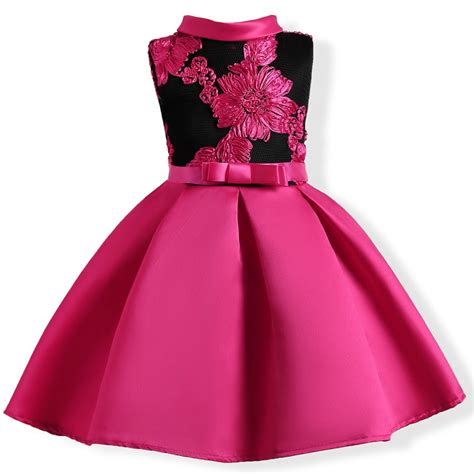 No 1 Embroidery Dress baby embroidery silk princess dress for wedding