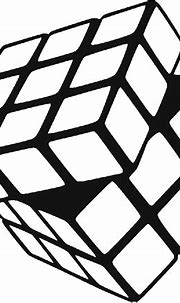 Cubes Vector Black Cube - Rubiks Cube Black And White ...