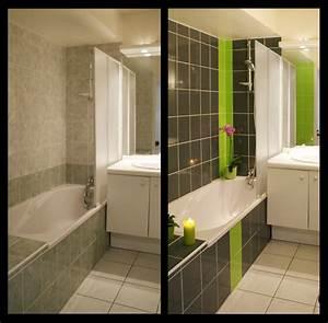 galerie photos stickers carrelage adr carreauxfr With carrelage adhesif salle de bain avec led pour plante